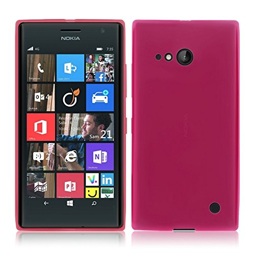 TBOC® Rosa Gel TPU Hülle für Nokia Lumia 730 Dual SIM Ultradünn Flexibel Silikonhülle
