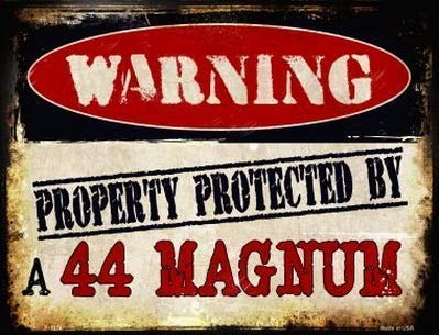 Vincentney New Tin Sign 44 Magnum Warning Novelty Metal Sign Aluminum 12x16 INCH -