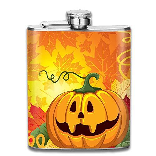 flasks for Men Cute Happy Halloween Pocket Leak Proof Liquor Hip Flask Alcohol Flagon 304 Stainless Steel 7OZ Gift Box Outdoor (Halloween Shot Happy)