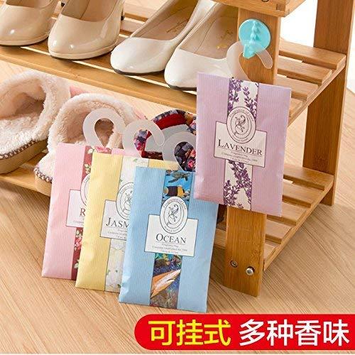 QINCH Kitchen Darüber hinaus kann Aromatherapie montiert werden Indoor Natural Spice Räucherstäbchen Packung Garderobe Duftbeutel Garderobe Insekt Anti-Mehltau Duft von Jasmin