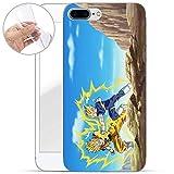 Finoo Hülle für iPhone 7 Plus / 8 Plus - Dragonball Handyhülle mit Motiv und Optimalen Schutz TPU Silikon Tasche Case Cover Schutzhülle - Goku vs Majin Vegeta