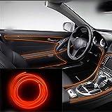 Gallocabe 5m / 16ft Superheller tragbarer glühender Neonlicht-Bandstreifen mit 12V-Zigarettenautosatz für Fahrzeug, Automobilinnenatmosphäre führte Lichtdekoration
