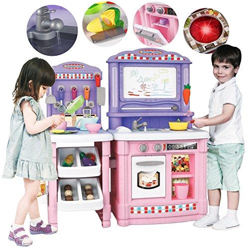 Kinderküche Spielküche Kinderspielküche Spielzeugküche KP0070P 66 Zubehörteile Neu Spielzeugküche für Kinder (Tischplatte, Licht Stehen)