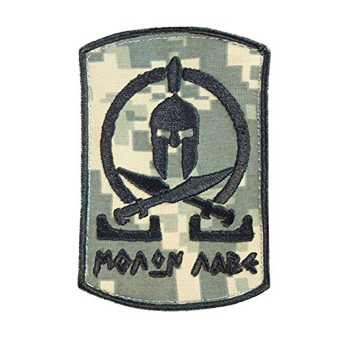ACU Spartan Molon Labe Taktisch Tactical Morale Army Milspec Embroidered Hook&Loop Aufnäher Patch -