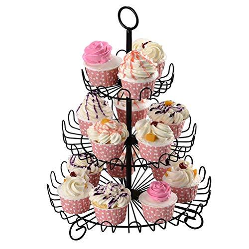 Surenhap Serviertablett für die Hochzeitsfeier, Dekoration für Cupcakes und Cake Pop, 3 Ebenen, Display Stand