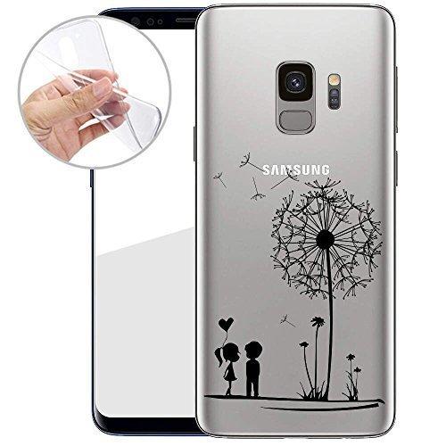 Samsung TPU Handyhülle Galaxy S9 von finoo Made In Germany Hülle mit Motiv für Optimalen Schutz Silikon Tasche Case Cover Schutzhülle Galaxy S9-Pusteblume Samsung Super-slim