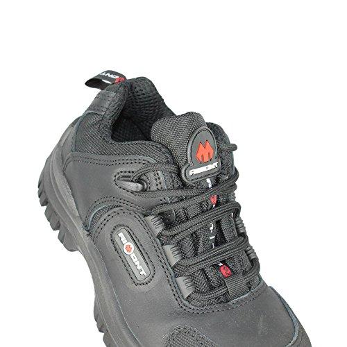 Aimont air chaussures de sécurité norme s3 sRC chaussures berufsschuhe businessschuhe plat noir Noir - Noir