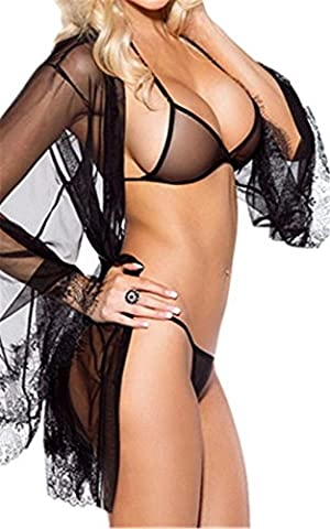 Befox Lingerie Set for Women Sexy Transparent Mesh and Lace Sleepwear Nighwear