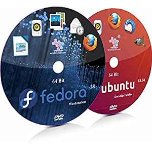 Fedora 30 GNOME and Ubuntu 18.04.3 GNOME 64 Bit Live Bootable Installation DVD