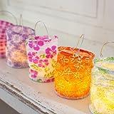 5er Set Teelichthalter für LED Teelichter Lights4fun