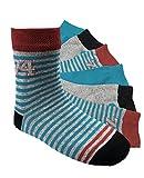 Laake 6 Paar Jungen Socken Kinder Strümpfe handgekettelt Spitze ohne Naht Baumwollsocken Boys Gr. 27-30 (JB 27-30)