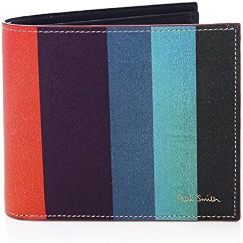 Paul Smith Men's Portafoglio in pelle Stripe Multi Colorata
