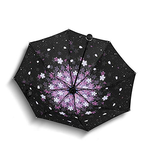 LYJZH Taschenschirm - Reise/Golfschirm, leicht stabil Kompakt Schirm für Reisen & Business Schwarzer Kunststoff-Taschenschirm Kreativschirm Regenschirm colour2 99cm