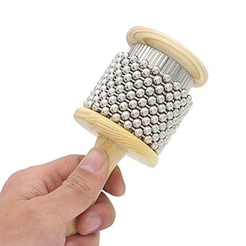 Holz Holz Cabasa klein Größe Percussion Band Student Kinder Kind Instrument Pop Hand Shaker