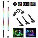 Adressierbarer LED-Streifen - Speclux Rainbow-Lichtstreifen mit Magnet und doppelseitigem Klebstoff, 5V 3-Pin-ADD-RGB, Kompatibel mit Asus Aura, Asrock RGB-LED, Gigabyte-RGB-Fusion, MSI Mystic Light