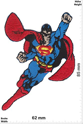 Patch - Supermann - Fly - Cartoon - Superman - Aufnäher - zum aufbügeln - Iron On (Superman Iron On Patch)