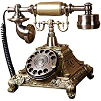 HGJSMN Telefono Fisso A Disco Rotante con Quadrante retrò Telefono - Classico Stile Antico Rotante A Quadrante Scrivania da Tavolo Home Office Telefono con Cavo A Spirale