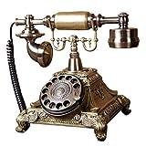 Antikes Telefon-Weinlese-Retro- Überlandhaus-Haus-Telefon-Hörer, geschnürte Maschine 60s Klassisches RD-Vorwahlknopf-Bronze