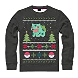 Pokemon Men's Bulbasaur in the Snow X-Large Christmas Jumper on PC