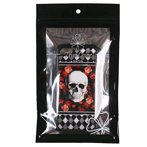 iPhone 55S case, True Color® rilievo stampato resistente agli urti TPU protettiva antiscivolo grip snap-on morbido robusto cover per iPhone 55S [True Impact Series] + pennino e pellicola protettiva  Skull on Roses & Argyle