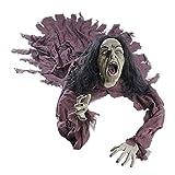 NET TOYS Zombie Figur mit Leuchtaugen und Sound Untoter Dekoration