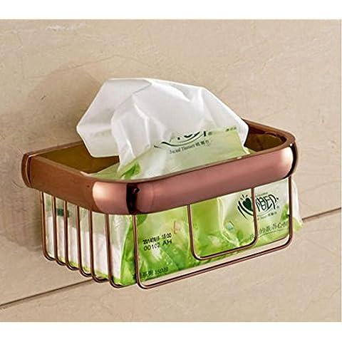 YanCui@ Porta carta igienica Rame antico carta asciugamano basket carta