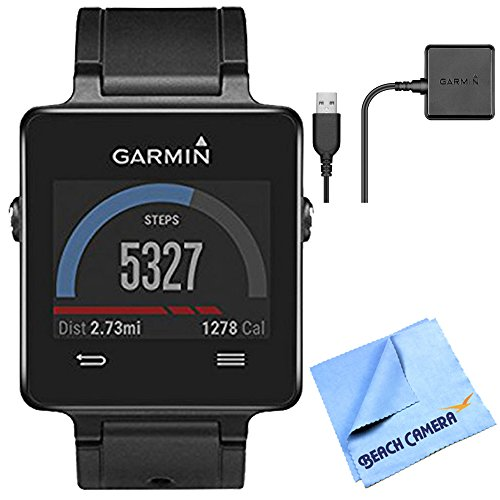 vivoactive GPS Smartwatch - Black 010-01297-00 Charging Clip Bundle includes Black vivoactive GPS Smartwatch Charging Clip and Micro Fiber Cloth