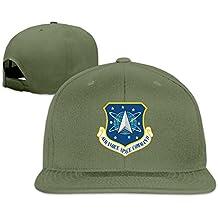 Espacial de La Fuerza Aérea comando gorra plana Gorra de plato blanco 7b23f6a5db9