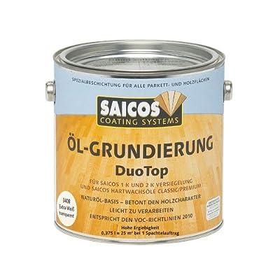 0,375L Saicos DuoTop Öl Grundierung extra weiss Holz Holzöl Holzgrundierung von Saicos color GmbH auf TapetenShop