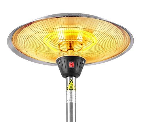 Firefly 2.100 Watt Infrarot-Heizstrahler (Halogen) Terrassenheizung, Tischheizung, 3 Leistungsstufen, Braun - 7
