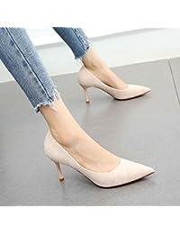 YMFIE Moda europea sexy temperamento tacchi a spillo scarpe da donna, scarpe da lavoro, 36 EU, nero