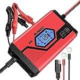 Suaoki - Chargeur de Batterie pour Voiture 4 Ampères 6/12V, Mainteneur Intelligent et Automatique...