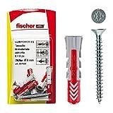 Fischer 537629Dübel mit Schraube DUOPOWER, grau/rot, 8x 40mm, Set von 8Stück