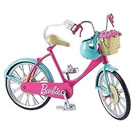 Barbie Bicicletta per Bambole con Casco e Accessori, Multicolore, Giocattolo per Bambini 3 + Anni, D