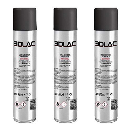 Pack 3 X ANTIWARPING 3DLAC - Spray fijador para Impresoras 3D. Ahorra en el Spray y en el envío...