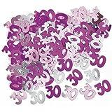 Unique Party - Coriandoli rosa per la festa di compleanno - 30 anni (Taglia unica) (Rosa)