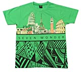 Romano Boys Green Cotton T-Shirt