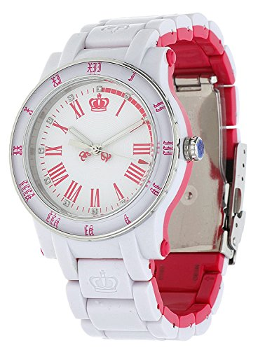 Juicy Couture 1900750 - Reloj para mujeres, correa de acero inoxidable color blanco