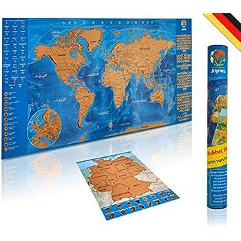 Landkarte Deutsch.Joynez Weltkarte Zum Rubbeln In Deutsch A4 Rubbelkarte Deutschland Xxl Landkarte Zum Freirubbeln Poster 85 X 42cm Inkl Geschenk Verpackung