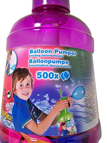 Wasserballonbefüller, Wasserballon - Pumpe mit 500 Wasserballons im Set