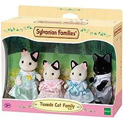 Sylvanian Families - 5181 - Famille Chat Bicolore - Mini Poupée