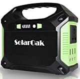 SolarOak Portable Generator CPAP Battery Pack Power Supply Solar Energy Storage Charged