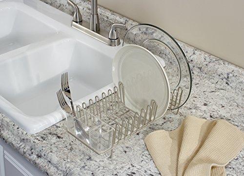 15 99 mdesign abtropfgestell fr die kchensple abtropfgitter mit besteckhalter zum trocknen von. Black Bedroom Furniture Sets. Home Design Ideas