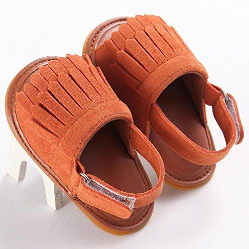 Omiky® Mode 2017 Kleinkind Mädchen Krippe Schuhe Neugeborene Blume Soft Sole Anti-Rutsch Baby Sneakers Sandalen Braun
