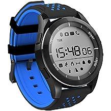 Pulsera inteligente inalámbrica IP68 Reloj impermeable de natación, 1.1 pulgadas Pantalla LCD luminosa con retroiluminación de 360 grados girando Dial Dial Dial Sytlish Deportes Watch Fitness Tracker, barómetro de altímetro UV Detectar, Compatible con Android 4.4 e IOS 8.0