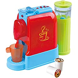 PlayGo-Cafetière Gourmet Electrique avec Accessoires Multicolore (Color Baby 44578)