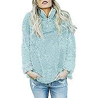 Damen Pullover Sweatshirt,Juliyues Frauen Winter Warme Flauschige Jumper Sweatshirtjacke Pullover Tops Bluse Outwear