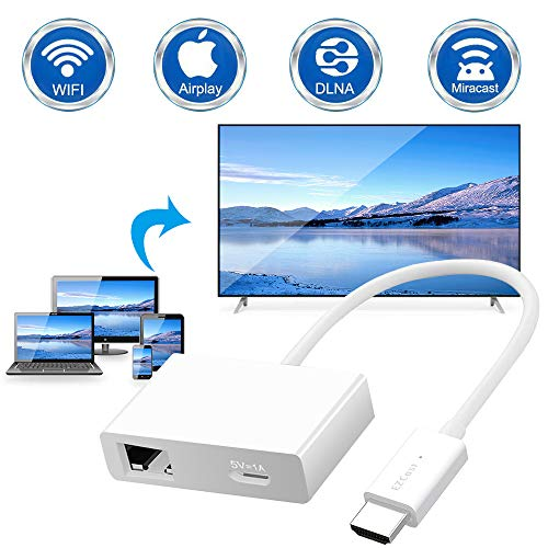 Wireless WiFi Display Dongle HDMI, DIWUER WiFi Drahtlos Mini Miracast Anzeigeempfänger 1080HD für Android Smartphone/ PC/ TV/ Monitor/ Projektor (Plug and Play) (Dongle / Video-receiver)