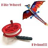 Y56 50M verdrillte Schnur-Linie rotes Rad-Drachen-Spulen-Wickler Drachenschnur