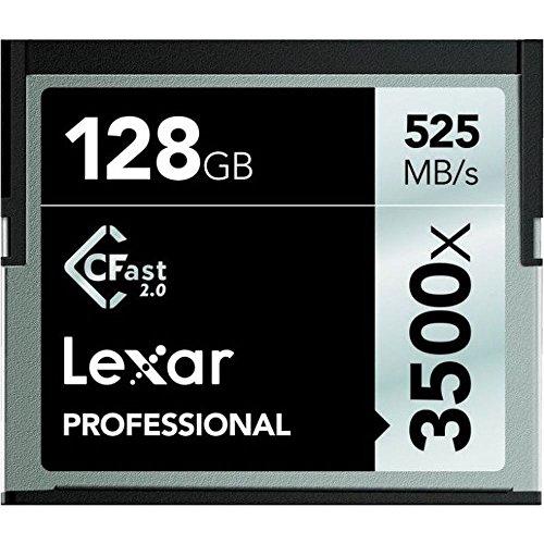 Lexar LC128CRBEU3500 Professional 3500x (525MB/s) Pro CFast CompactFlash Speicherkarte, 128 GB -